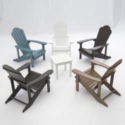 Jardín de madera de plástico silla Adirondack Adirondack sillón estilo americano
