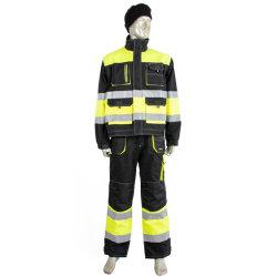 Jasje Vizibility van Workwear van de Veiligheid van de manier het In het groot Hoge Gele Beschermende met Weerspiegelende Band