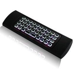 ماوس Mx3 Air Fly بإضاءة خلفية من المصنع بتقنية لاسلكية بتقنية 2.4G Backlight لوحة مفاتيح Mx3 لـ Android TV Box