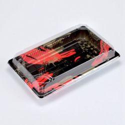 Personalizar el plástico negro antivaho Sushi Box