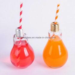 Mode de gros de l'ampoule de verre bouteille en forme de tasse de boisson