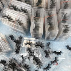 Hot Selling 25mm 3D Mink eyelashes Real Siberian drammatico Mink Si lashes con casella personalizzata