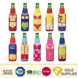 Logo personnalisé peut néoprène Vin Bière distributeur d'eau Refroidisseur de bouteille de sac de sport Gel Spray seule isolation chaud électrique double couvercle de la coupe du refroidisseur de bouteille de boisson