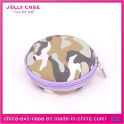 Tarnung-Farbe PU-Deckel EVA-Kopfhörer-Kasten mit Reißverschluss