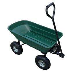 Carrinho de ferramentas de jardim de descarga dobrável tc2145 com quatro rodas