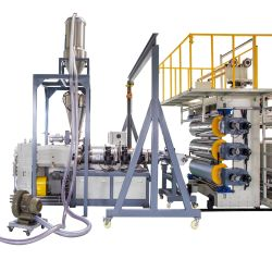 Plastik-Belüftung-Marmorblatt, das Maschine herstellt