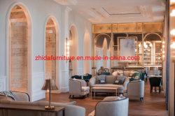 Hôtel 5 Étoiles Lobby Sellerie tissu Sofa Hotel Ameublement dans le hall