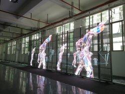P3.91 van de Binnen LEIDENE van het Glas LEIDENE Kleur van de Vertoning Transparante LEIDENE van het Volledige Gordijn van het Netwerk VideoMuur