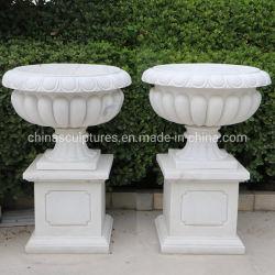 Marmorsteingarten-Produkte der Marmorblumen-Urnen