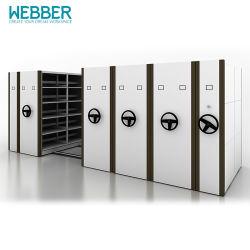 Le métal de l'équipement de stockage mobile Classeur pour Office avec des rails