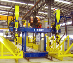 La Chine ligne H-Production du faisceau machine de soudage automatique de l'arc immergé