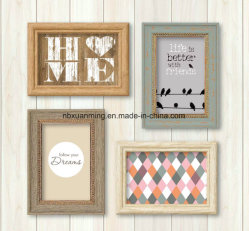 4piecesプラスチック壁の写真フレームセット、プラスチック写真フレームセット、写真フレーム、額縁、壁フレームセット、ホーム装飾、装飾の壁フレーム