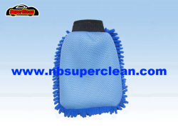 Blauer Farbe Microfiber Chenille-Handschuh-Auto-Wäsche-Handschuh (CN1408)