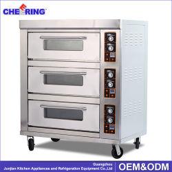 Strumentazione elettrica del forno dell'acciaio inossidabile della macchina di cottura della torta della cucina del forno commerciale della pizza 3 piattaforme 6 cassetti