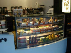 Verticale vitrine à gâteaux en verre avec dégivrage automatique