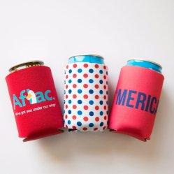 昇進の安い印刷デザインはコーヒーカップまたは飲料水のための短いクーラーのネオプレンの徳利立てをびん詰めにすることができる