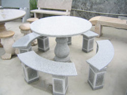 Pedra natural granito redonda cinzenta tabela SF-T-006 para decoração exterior