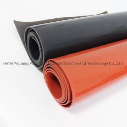 Gomma elastica rossa Rolls dello strato del silicone del nero a temperatura elevata di resistenza