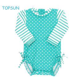 유아용 소녀 가을 긴팔 수영복 일체형 UPF 50+ 썬 프로텍션 의류