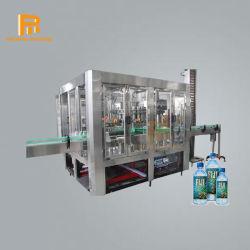 آلة تعبئة المياه الأوتوماتيكية مع نظام مصنع معالجة المياه للزجاجة البلاستيكية نقي/معدني/شرب/مشروبات تعبئة السوائل خط الإنتاج