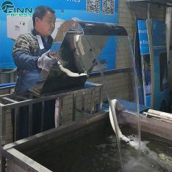 Piscina de acero inoxidable fuente cascada chorro de ducha curvos