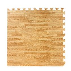 Non toxique du grain du bois de chêne en mousse EVA Tapis de plancher de verrouillage