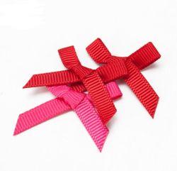 2.5Cm main fileté Satin Bow Bow Multicolor striée