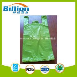 حقيبة بقميص بلون أخضر عالي الجودة مزودة بشريحة مزودة بمانع تسرب انزلاقي أكياس بلاستيكية مصنوعة من البولي إيثيلين
