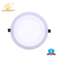 De Dubbele Kleur Witte RGB 6W 9W en 24W Downlight van Dimmable In een nis gezette Binnen het Verlichting Ingebedde LEIDENE van Lichten Licht van het Comité