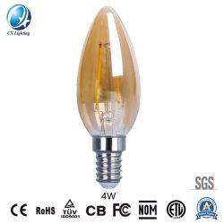 C35 4W BOMBILLA DE FILAMENTO Velas LED 480lm la igualdad de 40W con Ce RoHS, EMC, LVD