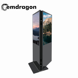 Ad Player 3D Doppelseitiges Digital Signage 43 Zoll ultraflaches Digital Signage Doppelseitiges Display Dual-Screen Advertising Player