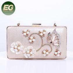 Com Filete de cristal Decoração de flores Senhoras Bolsa Noite Saco da Embreagem Eb1027
