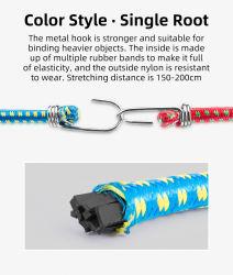 Portabicicletas Rockbros cuerda colorida Bolsa de bicicleta de cadena de fijación Fuerte duro equipaje elástico alto de la cuerda elástica Ciclismo Accesorios