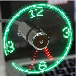 Reloj LED ventilador ventilador portátil alimentado por USB