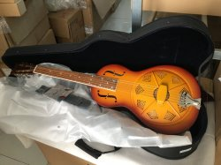 Latón Color Sunburst marca Aiersi Palour guitarra resonador