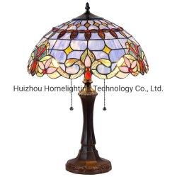 16 Inch ShadeのTFT-4252 Antique Bronze Tiffany Style Table Lamp