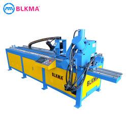 خط إنتاج الشفة الفولاذية لزاوية HVAC / قطع التجميع التلقائي ماكينة لأنبوب الشفة الفولاذية مشطوفة الزاوية