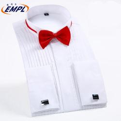 Образом растянуть Custom длинной втулки официальных Версия для печати платье рубашку для мужчины