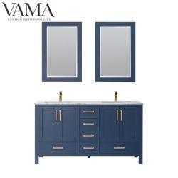 Бухарест 60 дюймовых продажи цельной древесины туалетный столик в ванной комнате ванная комната мебель 723060ms
