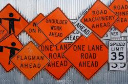 Het Teken van de Raad van de Pijl van de Aanleg van wegen