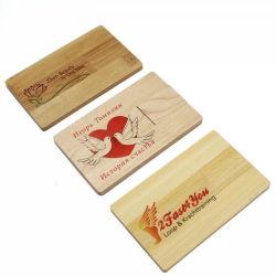 Настраиваемый логотип реклама 4ГБ флэш-накопитель USB 8 ГБ диск кредитные карты памяти Memory Stick™ емкостью 2 ГБ флэш-диски Cardusb бизнеса из дерева