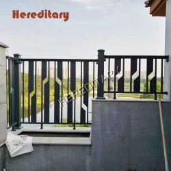 Het moderne Traliewerk van het Balkon van de Kunst van de Omheining van de Veiligheid van het Terras Zwarte