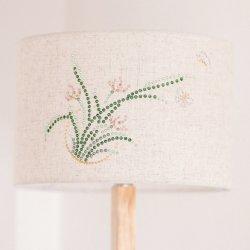 Original Orchid Butterfly Rhinestone Home Décoration lampe Décoration motif personnalisé Nouvelle lampe sur pied en bois simple de style chinois