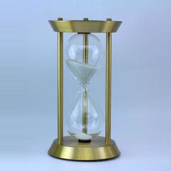 Grande temporizzatore della sabbia della clessidra del metallo 60 minuti per insegnamento del banco