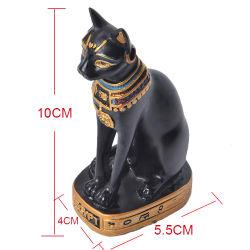 Home Office Ornaments Resin Kitten Stretching Black Cat Animal Statue Polyhars beeldhouwkunst