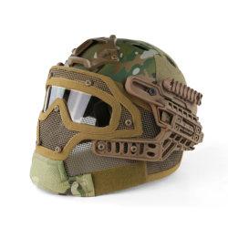 Casco tattico per esterni di alta qualità maschera in filo di acciaio con un camouflage Serie