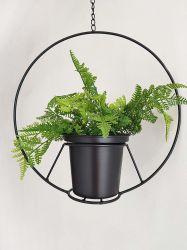 Moderner Metallkorb-Pflanzer-Halter-schwarzer hängender Blumen-Pflanzenpotentiometer für im Freien Hauptinnendekor