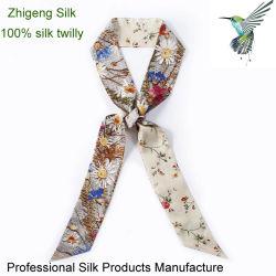 De Toebehoren van Twilly van de Zak van de Sjaals van de Decoratie van de Omslag van het Handvat van de Handtas van de Sjaal van de Keperstof van de Zijde van 100%