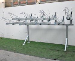Montés sur le sol de plein air de haute qualité durable 2-Tier galvanisé porte-vélo