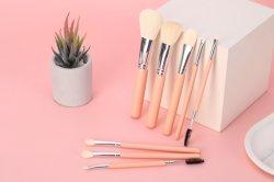 Make-up gereedschap Penselen Kit 8-DELIGE borstels Houten handvat Met synthetisch haar